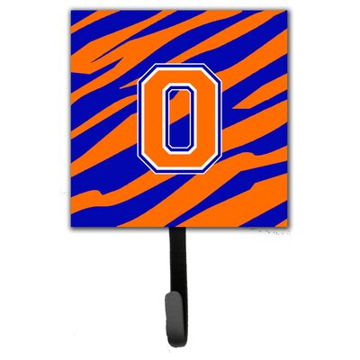 Monogram Tiger Stripe Leash Holder and Wall Hook Letter: O