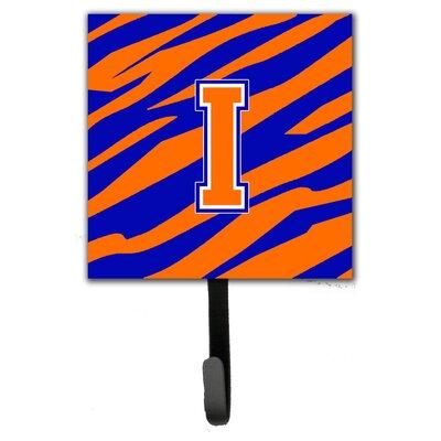 Monogram Tiger Stripe Leash Holder and Wall Hook Letter: I