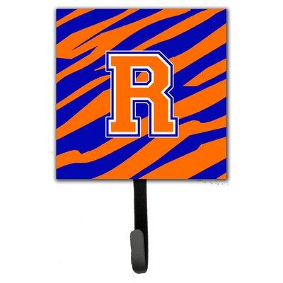 Monogram Tiger Stripe Leash Holder and Wall Hook Letter: R