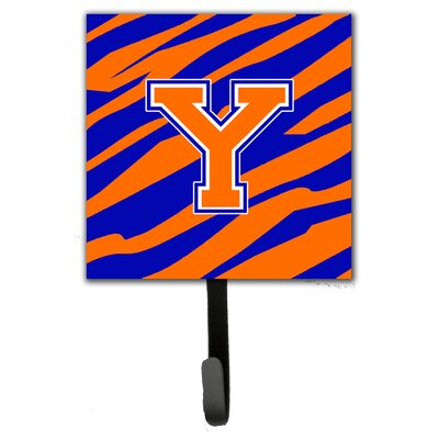 Monogram Tiger Stripe Leash Holder and Wall Hook Letter: Y