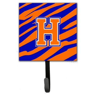 Monogram Tiger Stripe Leash Holder and Wall Hook Letter: H