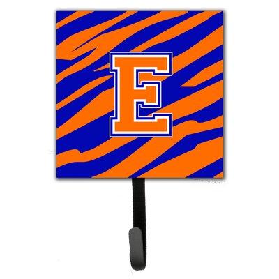 Monogram Tiger Stripe Leash Holder and Wall Hook Letter: E