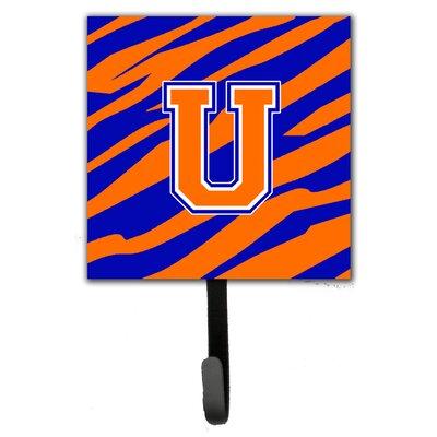 Monogram Tiger Stripe Leash Holder and Wall Hook Letter: U