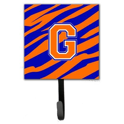 Monogram Tiger Stripe Leash Holder and Wall Hook Letter: G