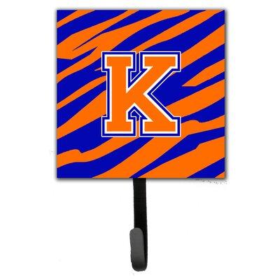 Monogram Tiger Stripe Leash Holder and Wall Hook Letter: K
