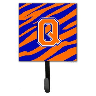 Monogram Tiger Stripe Leash Holder and Wall Hook Letter: Q