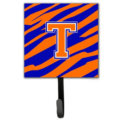 Monogram Tiger Stripe Leash Holder and Wall Hook Letter: T
