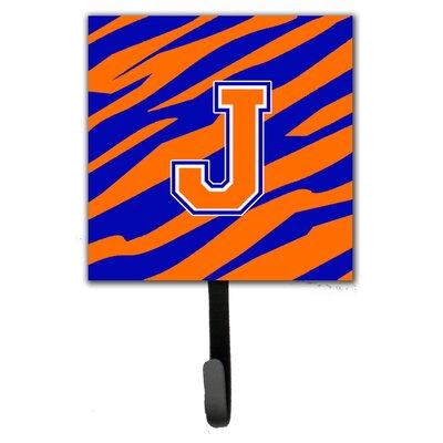 Monogram Tiger Stripe Leash Holder and Wall Hook Letter: J