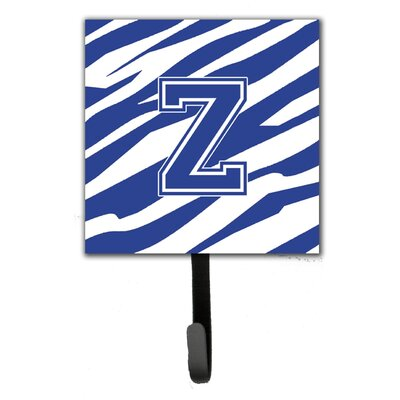 Tiger Stripe Leash Holder and Wall Hook Letter: Z