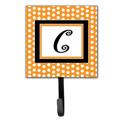 Monogram Polkadots Leash Holder and Wall Hook Letter: C