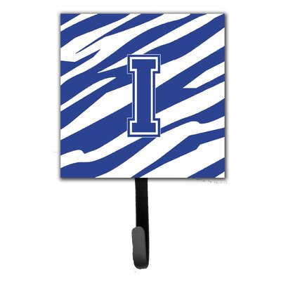 Tiger Stripe Leash Holder and Wall Hook Letter: I