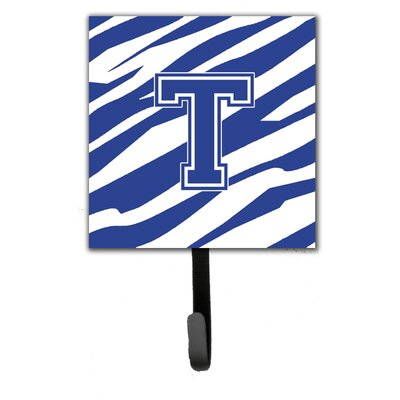 Tiger Stripe Leash Holder and Wall Hook Letter: T