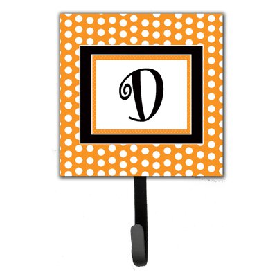 Monogram Polkadots Leash Holder and Wall Hook Letter: D