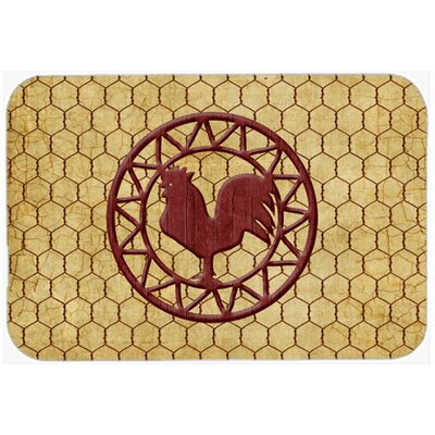 Jaiden Rooster Chicken Coop Glass Cutting Board