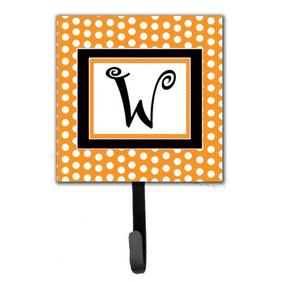 Monogram Polkadots Leash Holder and Wall Hook Letter: W