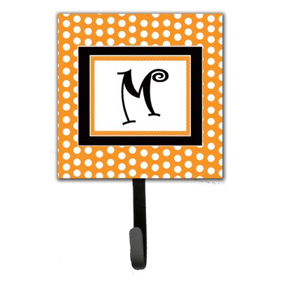 Monogram Polkadots Leash Holder and Wall Hook Letter: M
