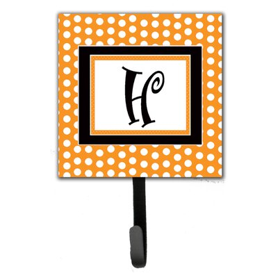 Monogram Polkadots Leash Holder and Wall Hook Letter: H