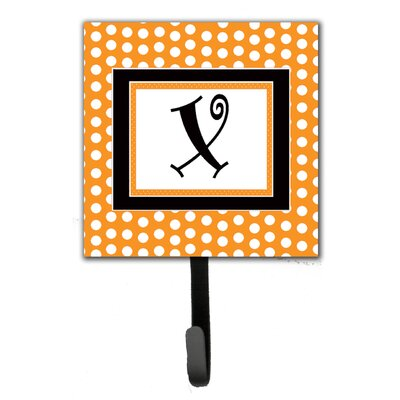 Monogram Polkadots Leash Holder and Wall Hook Letter: X