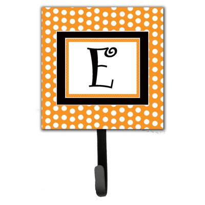 Monogram Polkadots Leash Holder and Wall Hook Letter: E