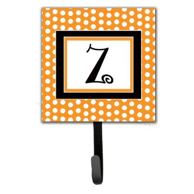 Monogram Polkadots Leash Holder and Wall Hook Letter: Z