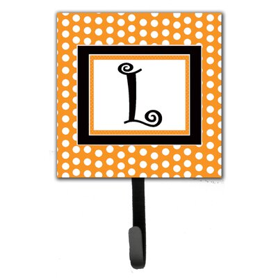 Monogram Polkadots Leash Holder and Wall Hook Letter: L