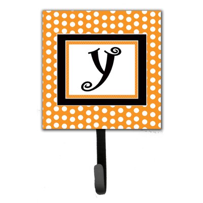 Monogram Polkadots Leash Holder and Wall Hook Letter: Y