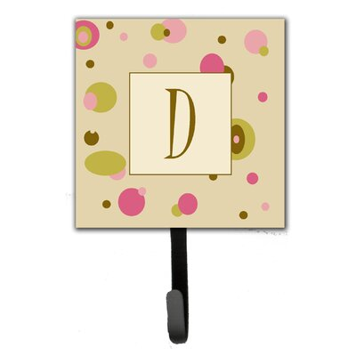Monogram Dots Leash Holder and Wall Hook Letter: D