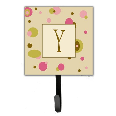 Monogram Dots Leash Holder and Wall Hook Letter: Y