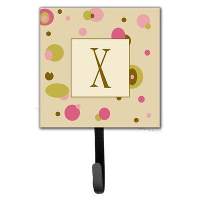 Monogram Dots Leash Holder and Wall Hook Letter: X