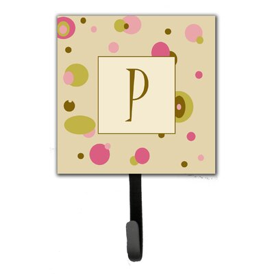 Monogram Dots Leash Holder and Wall Hook Letter: P