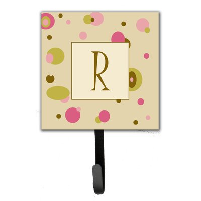 Monogram Dots Leash Holder and Wall Hook Letter: R