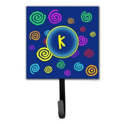 Monogram Swirls Leash Holder and Wall Hook Letter: K