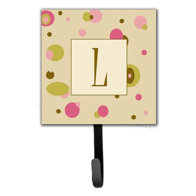 Monogram Dots Leash Holder and Wall Hook Letter: L