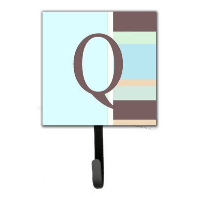 Monogram Stripes Leash Holder and Wall Hook Letter: Q