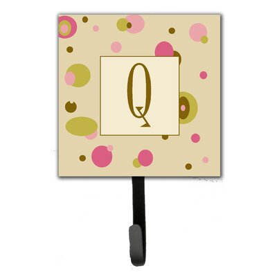Monogram Dots Leash Holder and Wall Hook Letter: Q