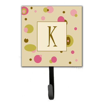 Monogram Dots Leash Holder and Wall Hook Letter: K
