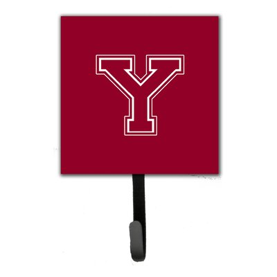 Monogram Leash Holder and Wall Hook Letter: Y