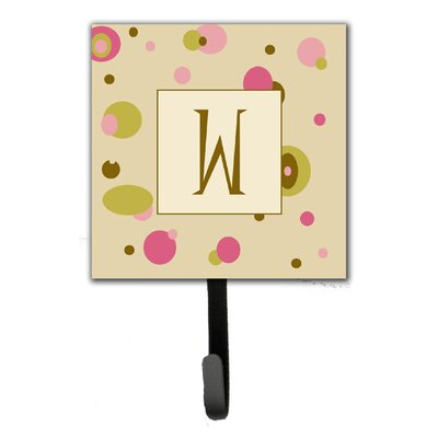 Monogram Dots Leash Holder and Wall Hook Letter: W