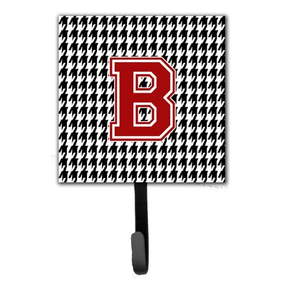 Houndstooth Leash Holder and Wall Hook Letter: B