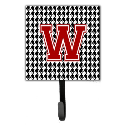 Houndstooth Leash Holder and Wall Hook Letter: W
