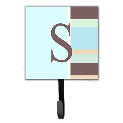 Monogram Stripes Leash Holder and Wall Hook Letter: S