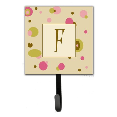 Monogram Dots Leash Holder and Wall Hook Letter: F