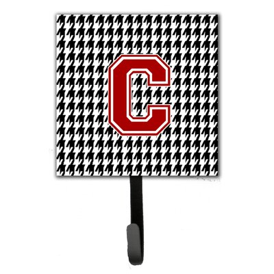 Houndstooth Leash Holder and Wall Hook Letter: C