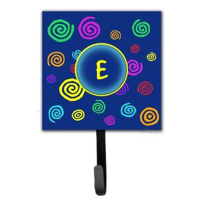 Monogram Swirls Leash Holder and Wall Hook Letter: E
