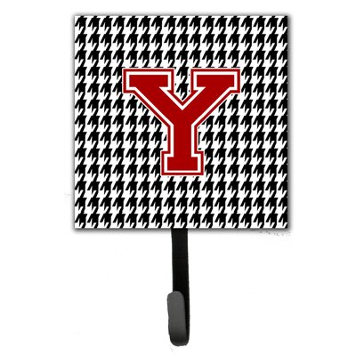 Houndstooth Leash Holder and Wall Hook Letter: Y