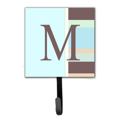 Monogram Stripes Leash Holder and Wall Hook Letter: M