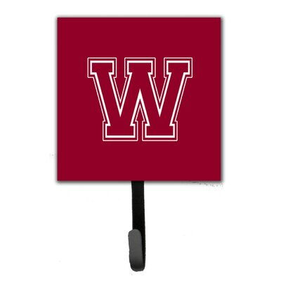 Monogram Leash Holder and Wall Hook Letter: W