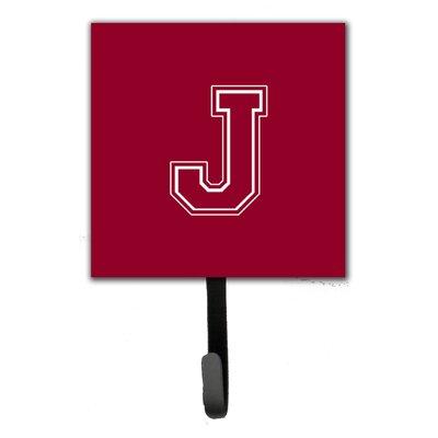 Monogram Leash Holder and Wall Hook Letter: J