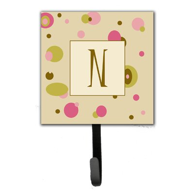 Monogram Dots Leash Holder and Wall Hook Letter: N