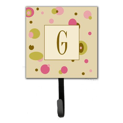 Monogram Dots Leash Holder and Wall Hook Letter: G